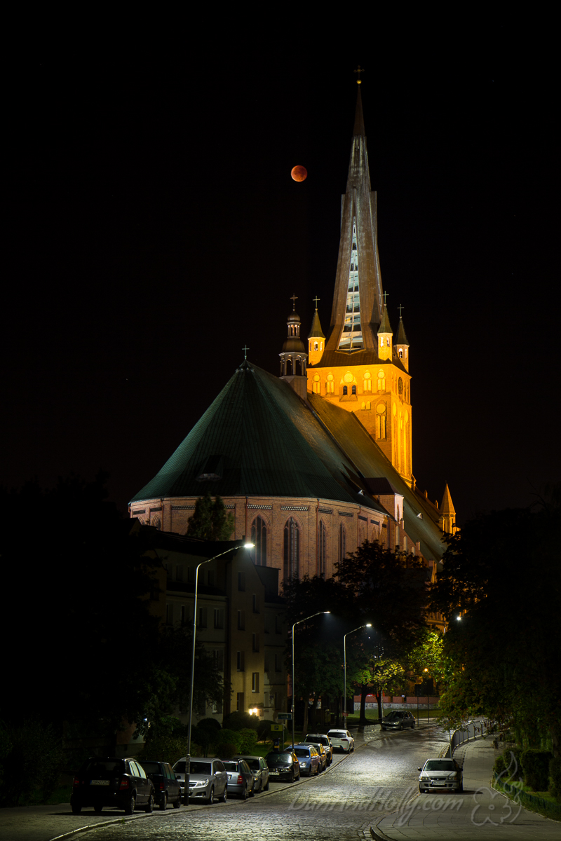 Blood Moon over Szczecin